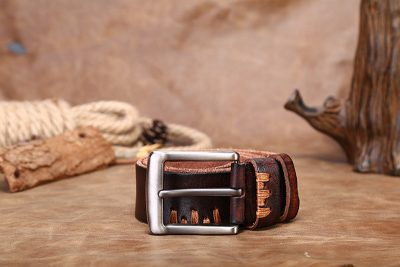 Casual Handmade Leather Belt-Buckle