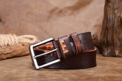 Casual Handmade Leather Belt-Details