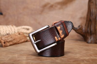 Casual Handmade Leather Belt-Long
