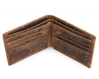 Crocodile Pattern Leather Wallet-Inside