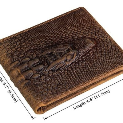 Crocodile Pattern Leather Wallet-Size