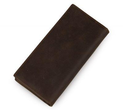 Dark Brown Leather Wallet Card Holder Wallet-Back