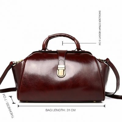 Designer Genuine Leather Handbag-Size
