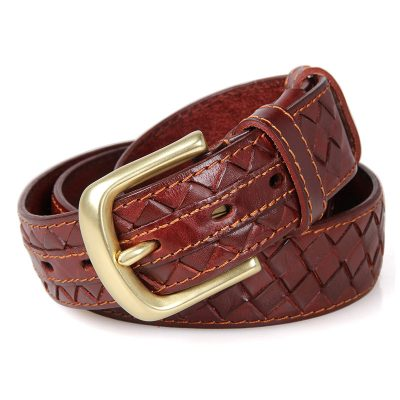 Durable Men's Leather Belt-Front
