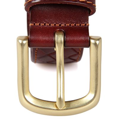Durable Men's Leather Belt-details