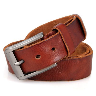 Durable Vegetable Leather Belt-Front