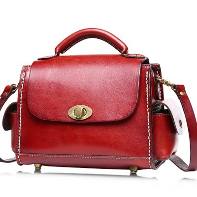 Fashion Women's Leather Satchel-Left