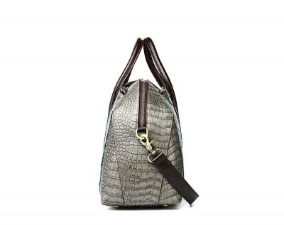 Green Shell Type Leather Handbag-Side