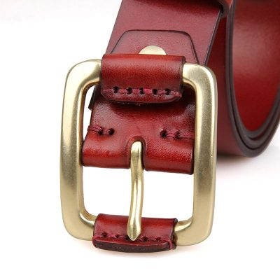 Handmade Leather Belt-Button