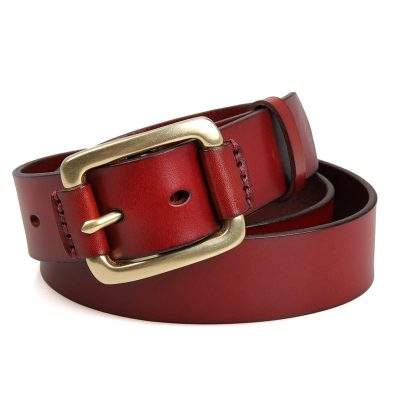 Handmade Leather Belt-Front