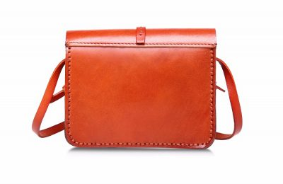 Handmade Leather Satchel, Leather Shoulder Bag-Back