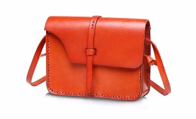 Handmade Leather Satchel, Leather Shoulder Bag-Left