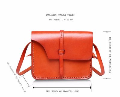 Handmade Leather Satchel, Leather Shoulder Bag-Size