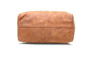 Handmade Vintage Leather Tote-Bottom