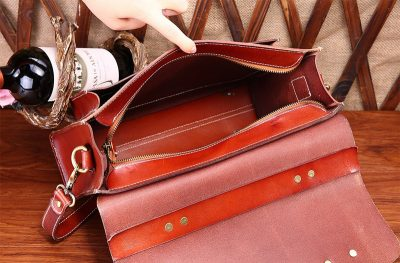 Hot Fashion Leather Satchel-Inside