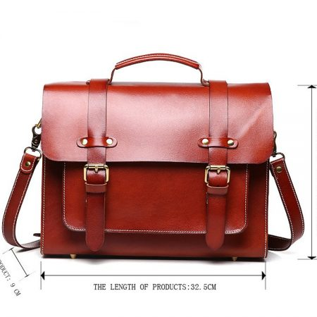 Hot Fashion Leather Satchel-Size