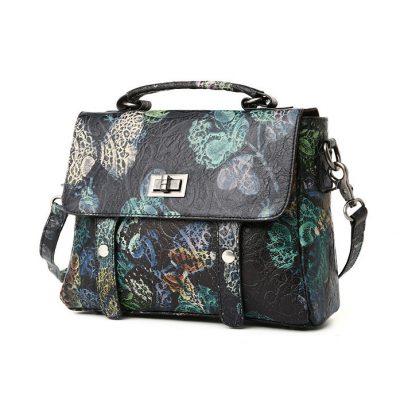 Leather Handbag Shoulder Bag Crossbody Bags-Side