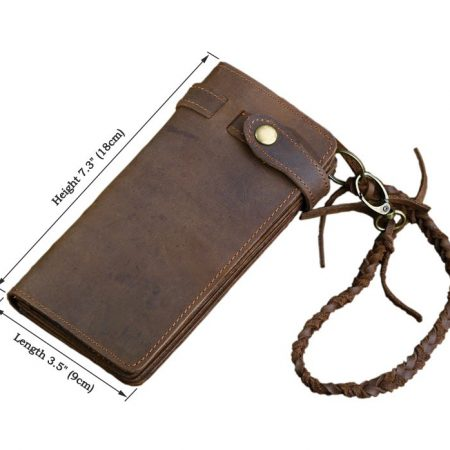 Leather Purse Wallet Card Holder-Size