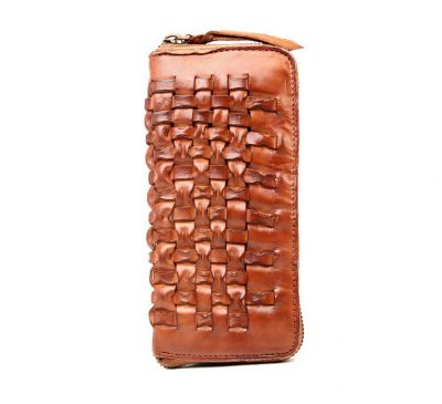 Long Vegetable Tanned Leather Purse-Long