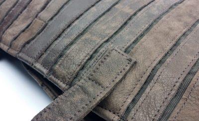 Mosaic Leather Handbag-Details-1