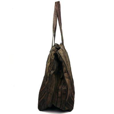 Mosaic Leather Handbag-Left