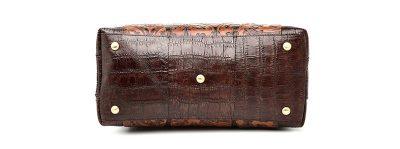 Shell Type Leather Handbag-Back