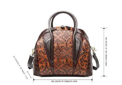 Shell Type Leather Handbag-Size