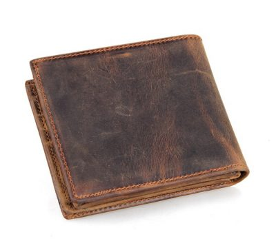 Slim Vintage Leather Wallet Pocket Wallet-Back