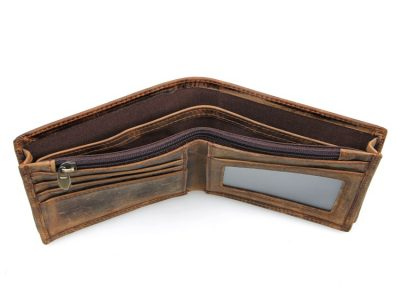 Slim Vintage Leather Wallet Pocket Wallet-Inside