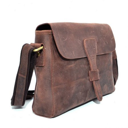 Top Quality Hard Leather Satchel For Lady-Left