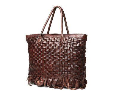 Vegetable Tanned Leather Handbag-Side