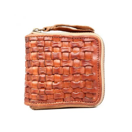 Vegetable Tanned Leather Purse-Front