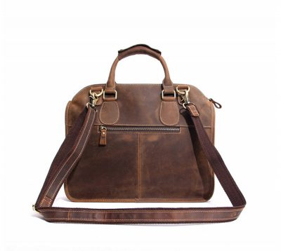 Vintage Leather Satchel-Back