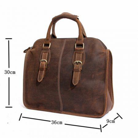 Vintage Leather Satchel-Size