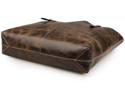 Vintage Leather Tote Bag-Bottom