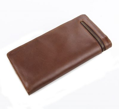 Vintage Style Leather Clutch, Leather Wallet-Back