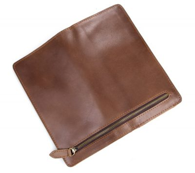 Vintage Style Leather Clutch, Leather Wallet-Front