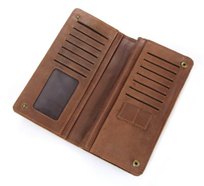 Vintage Style Leather Clutch, Leather Wallet-Inside