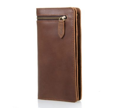 Vintage Style Leather Clutch, Leather Wallet-Long