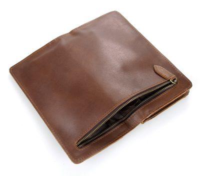 Vintage Style Leather Clutch, Leather Wallet-Pocket