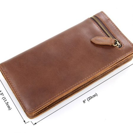 Vintage Style Leather Clutch, Leather Wallet-Size