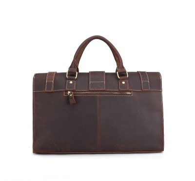 Weekend Leather Satchel-Back