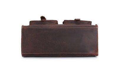 Weekend Leather Satchel-Bottom