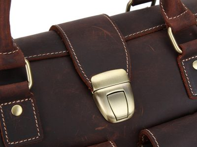 Weekend Leather Satchel-Details