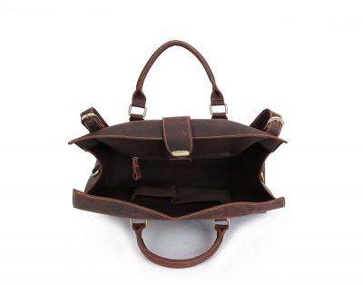 Weekend Leather Satchel-Inside
