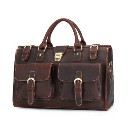 Weekend Leather Satchel-Left