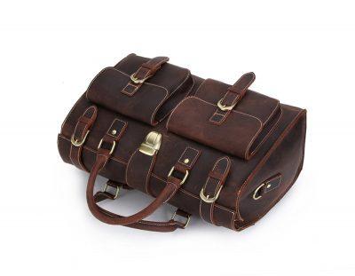 Weekend Leather Satchel-Top