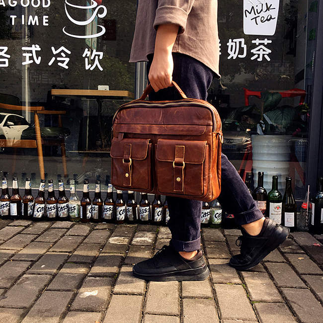brucegao Briefcases for men