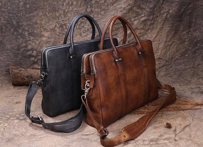 businessmen leather briefcase