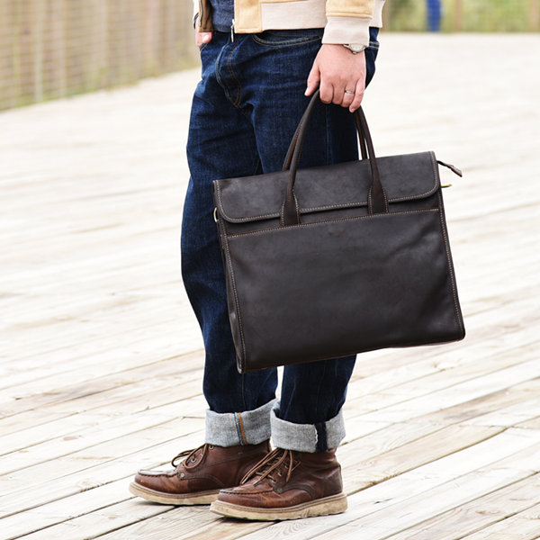 handmade leather messenger bags for men VANGOSEDUN